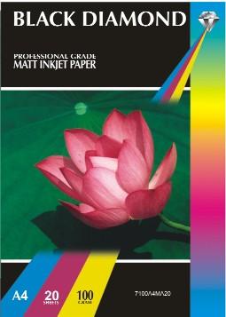 100 Sheets A3 150gsm Black Diamond Gloss Inkjet Paper